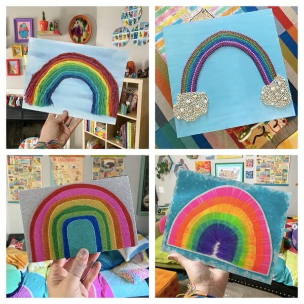Unique recycled rainbows