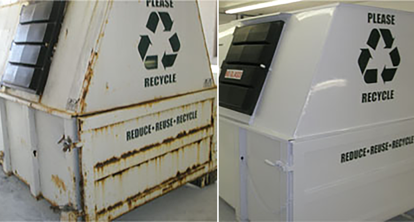 Refurbished Waste Container