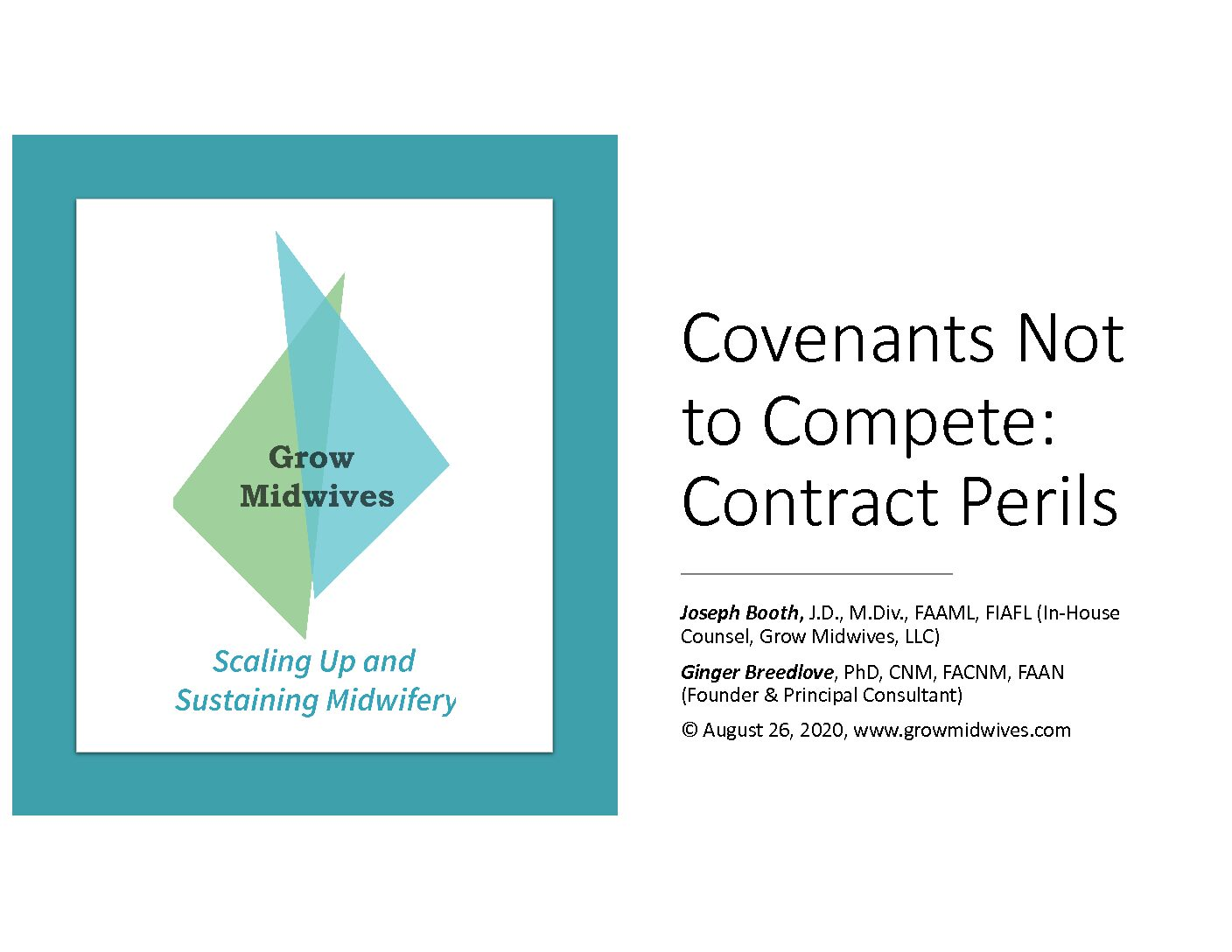 Covenants Not to Compete: Contract Perils Webinar