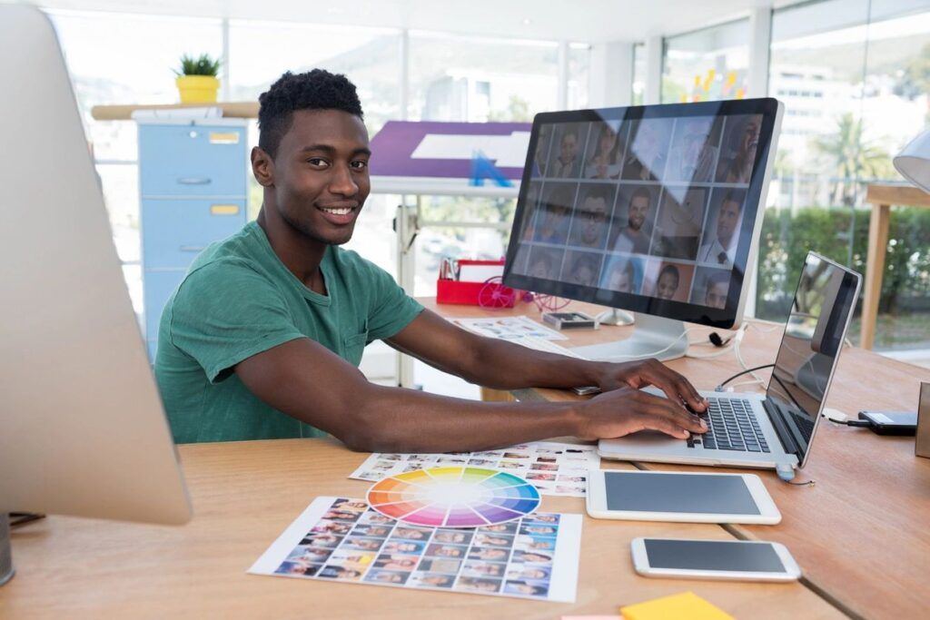 web designer making websites