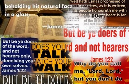 But be ye doers of the word