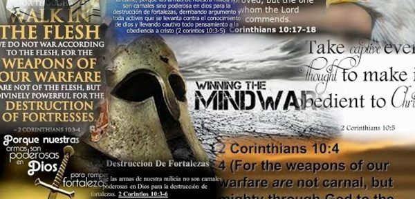 We do not war after the flesh