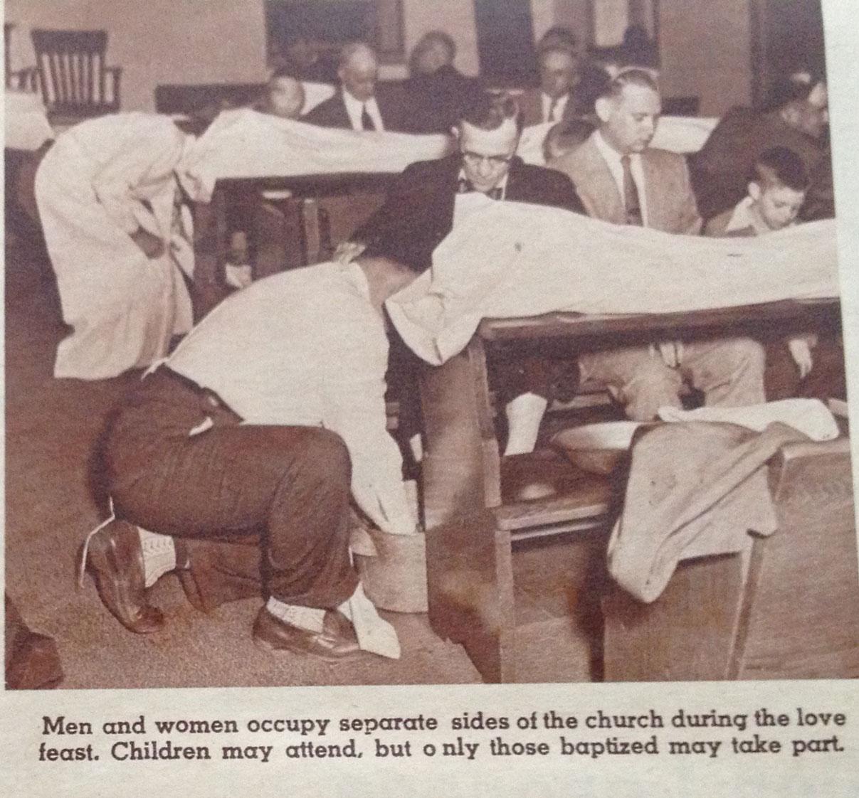 Lovefeast - men's feet washing