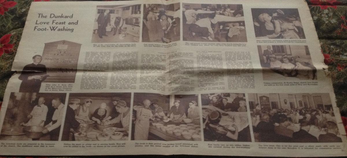 Pictures from lovefeast in magazine article