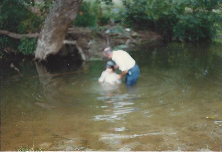 Judy Boone's baptism with Ralph Schildt