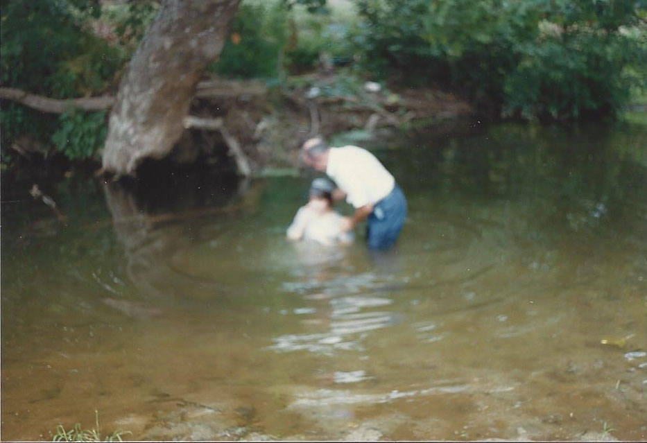 Judy Boone's baptism with Ralph Schildt