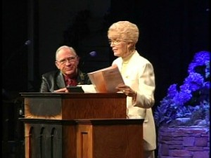 Nan & Chuck at podium