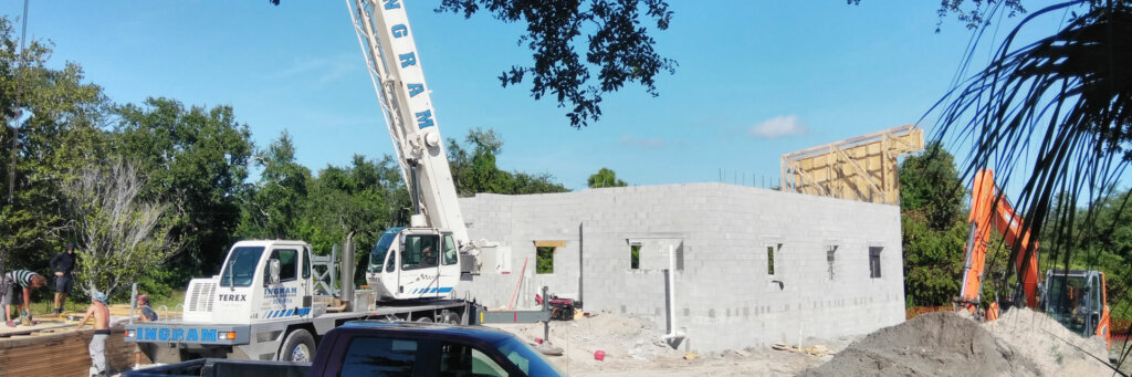 Modern Medical Building for Integrative Medicine Practice in Florida - Trusses Time Lapse