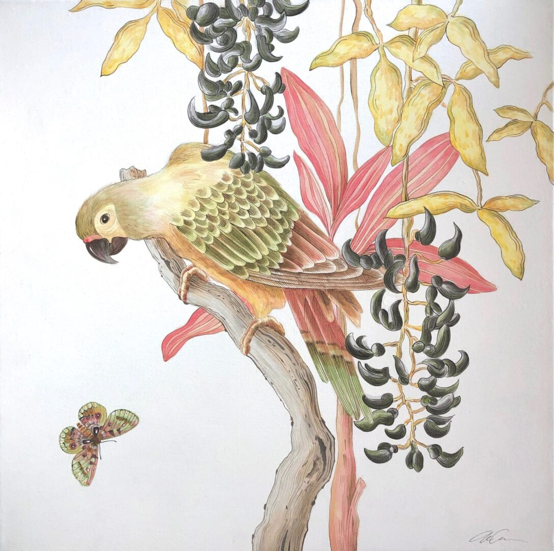 Bird of Passage Modern Chinoiserie by Allison Cosmos