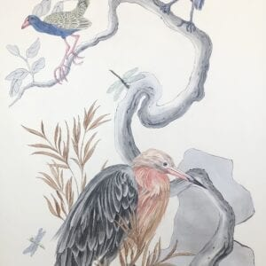 """""""I've-Never-Been-More-Shore""""-Chinoiserie-Art-Coastal-Birds-by-Allison-Cosmos"""