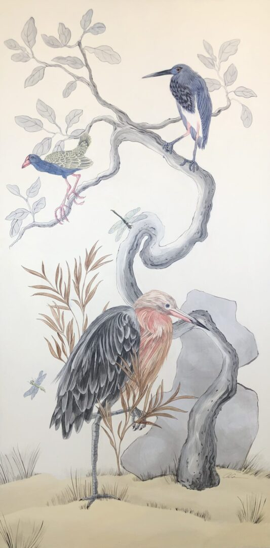 """I've-Never-Been-More-Shore""-Chinoiserie-Art-Coastal-Birds-by-Allison-Cosmos"