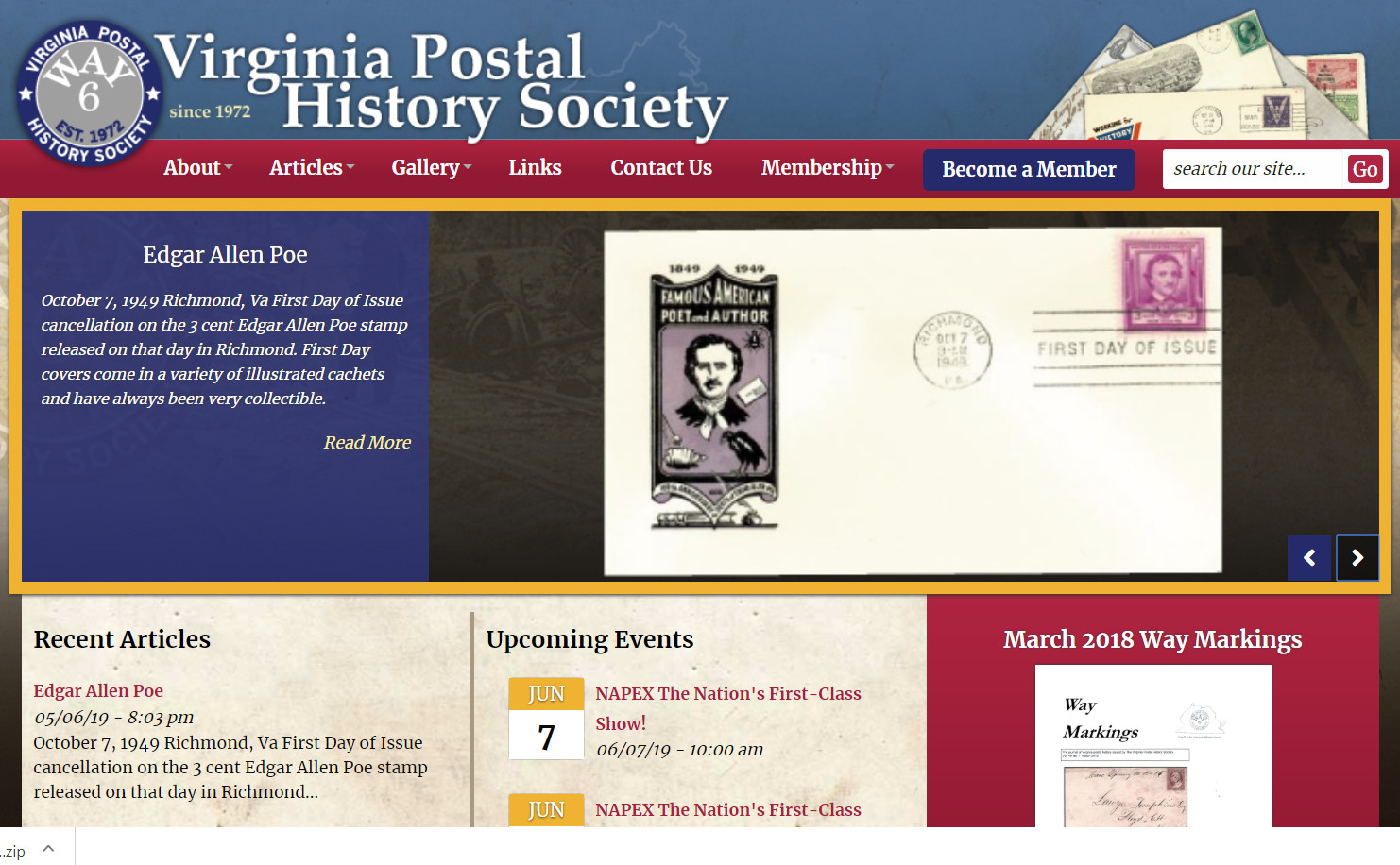 The Virginia Postal History Society has a new website!