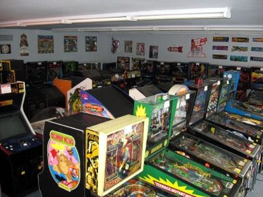 showroom of arcade machines