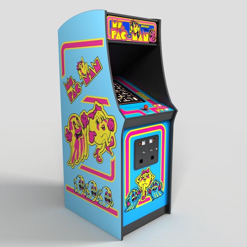 stand up Ms Pac man machine