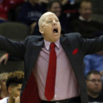 Nov 13, 2017; Highland Heights, KY, USA; Cincinnati Bearcats head coach Mick Cronin reacts during the second half against the Western Carolina Catamounts at BB&T Arena. Mandatory Credit: David Kohl-USA TODAY Sports