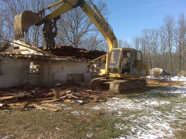 Carroll Bros. Contracting Demolition of pig barn - Crownsville, MD