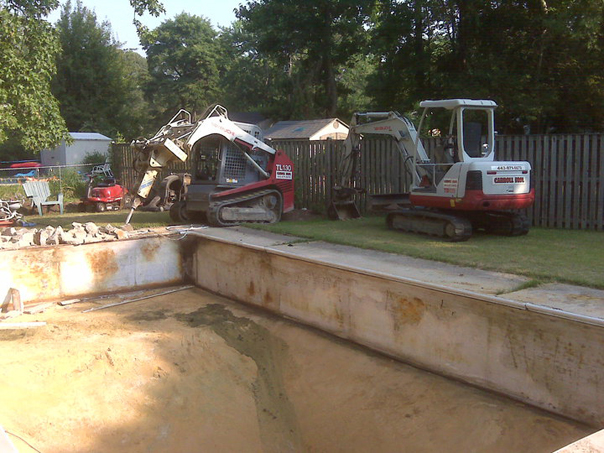 Carroll Bros. Contracting Swimming Pool Demolition - Arnold, MD