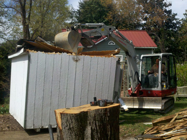 Carroll Bros. Contracting Demolition of old shed to make room for new home addition - Annapolis, MD