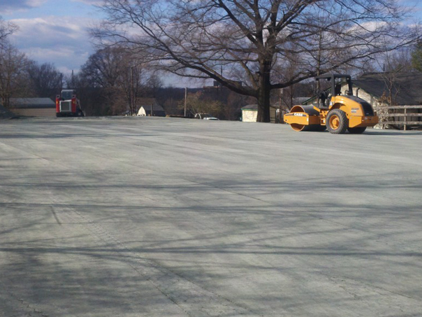 Carroll Bros. Contracting Compacting stone dust base for horse riding arena - Bowie, MD
