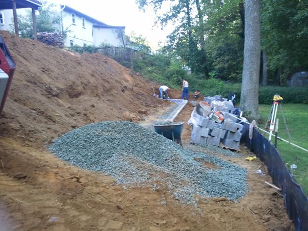 Carroll Bros. Contracting Interlocking block retaining wall in Arnold, MD