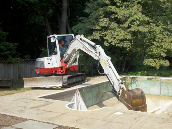 Carroll Bros. Contracting Vinyl Liner Pool Demolition in the City of Annapolis