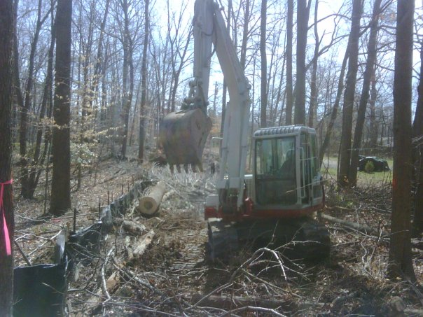 Carroll Bros. Contracting Clearing woods for a new private road - Crofton, MD