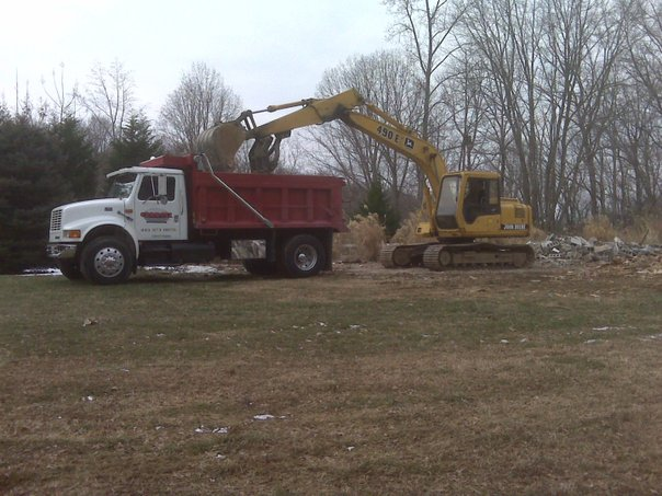 Carroll Bros. Contracting Demolishing old barn to make way for new horse riding arena - Crownsville, MD