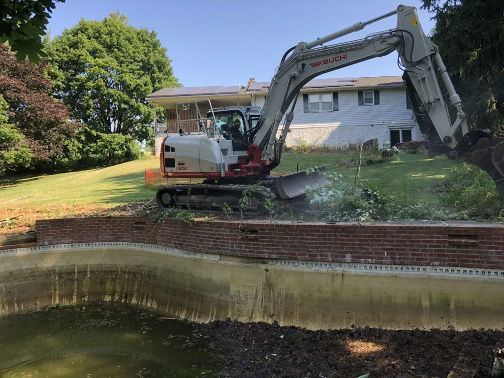Concrete Pool Removal in Sykesville Maryland