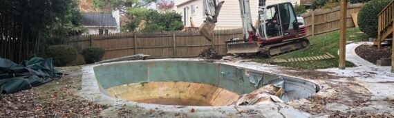 Vinyl Liner Pool Removal in Potomac Maryland