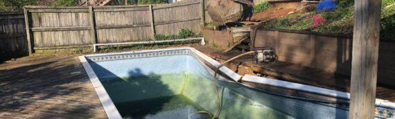 Vinyl Liner Pool Removal in Clarksburg Maryland