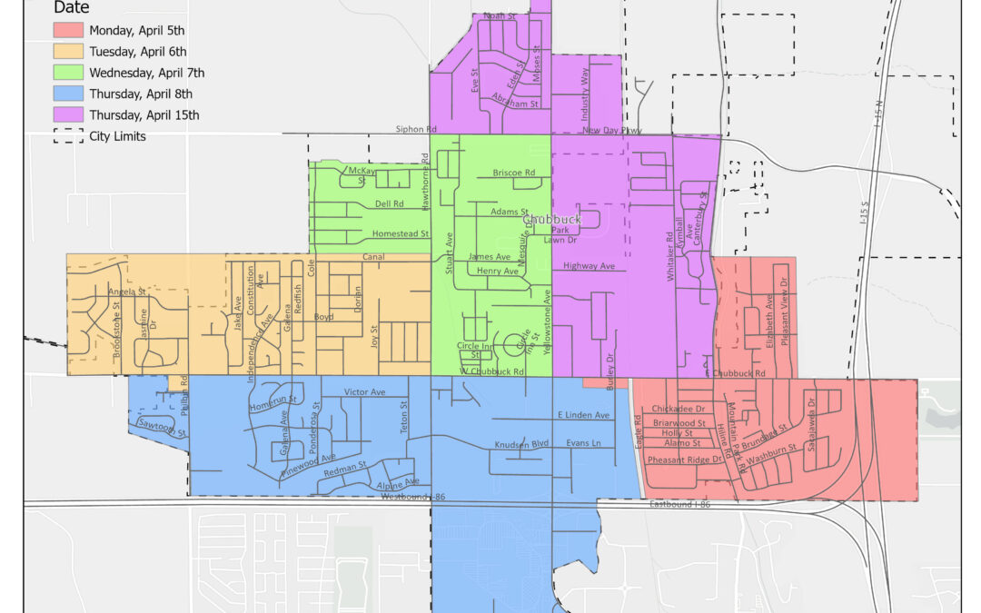 2021 Street Sweeping Schedule
