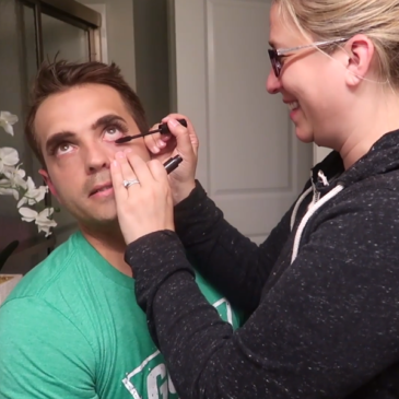 Wife Does Husband's Makeup!