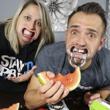 Hilarious Mouthguard Game with Food!