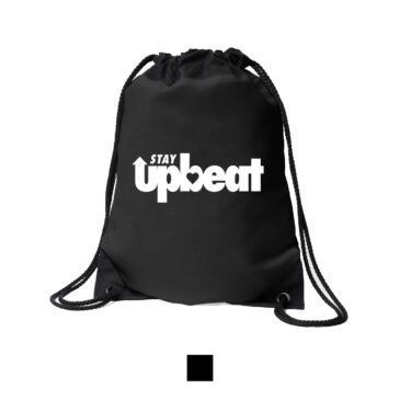 STAY UPBEAT Drawstring Bag