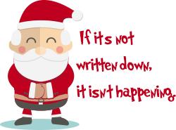 If it's not written down, it isn't happening.