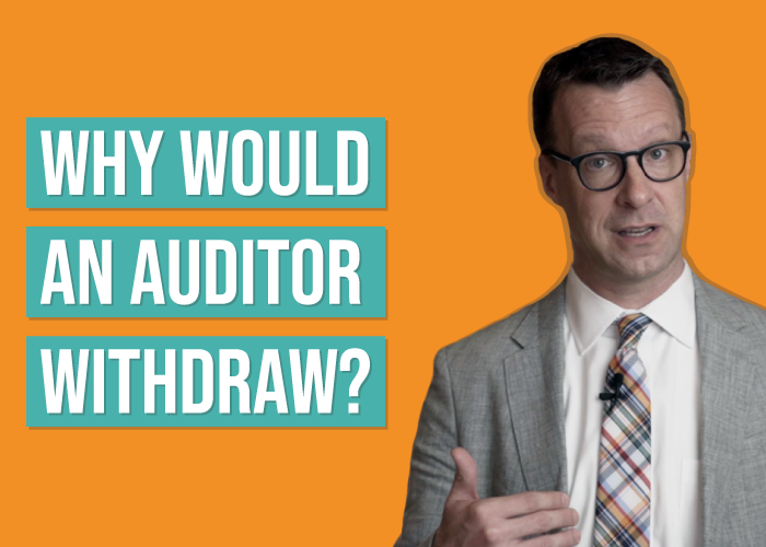Can an Auditor Withdraw from an Audit?