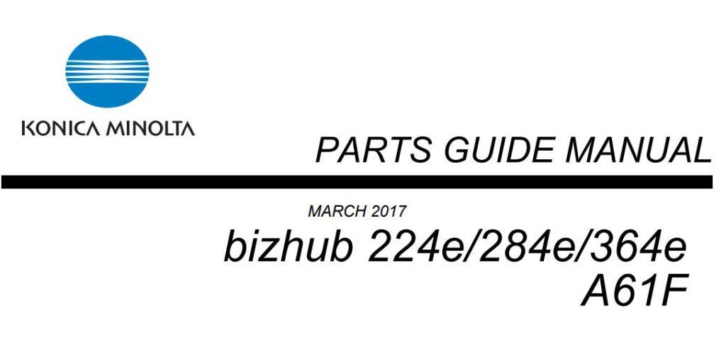 bizhub 364e Part Guides Image