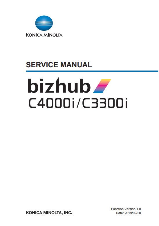 bizhub C4000i and C3300i Service Manual Image