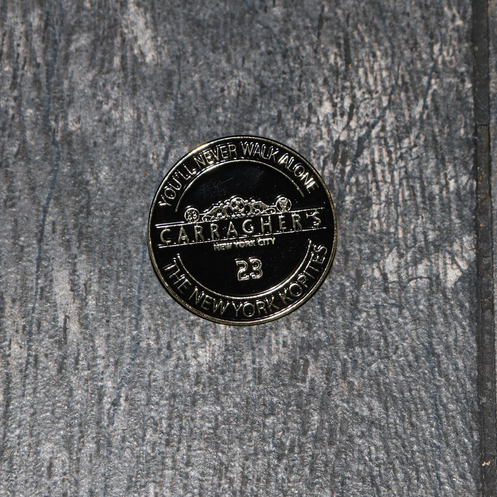 Carragher's Black and Gold Pin
