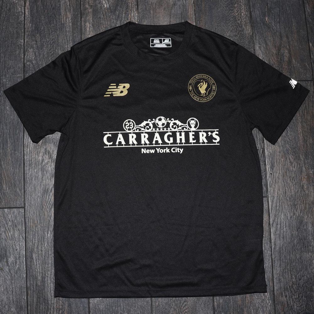 Carragher's Black Football Shirt