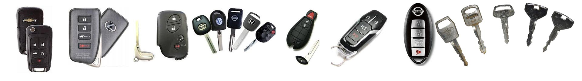 car keys, fobs and remotes