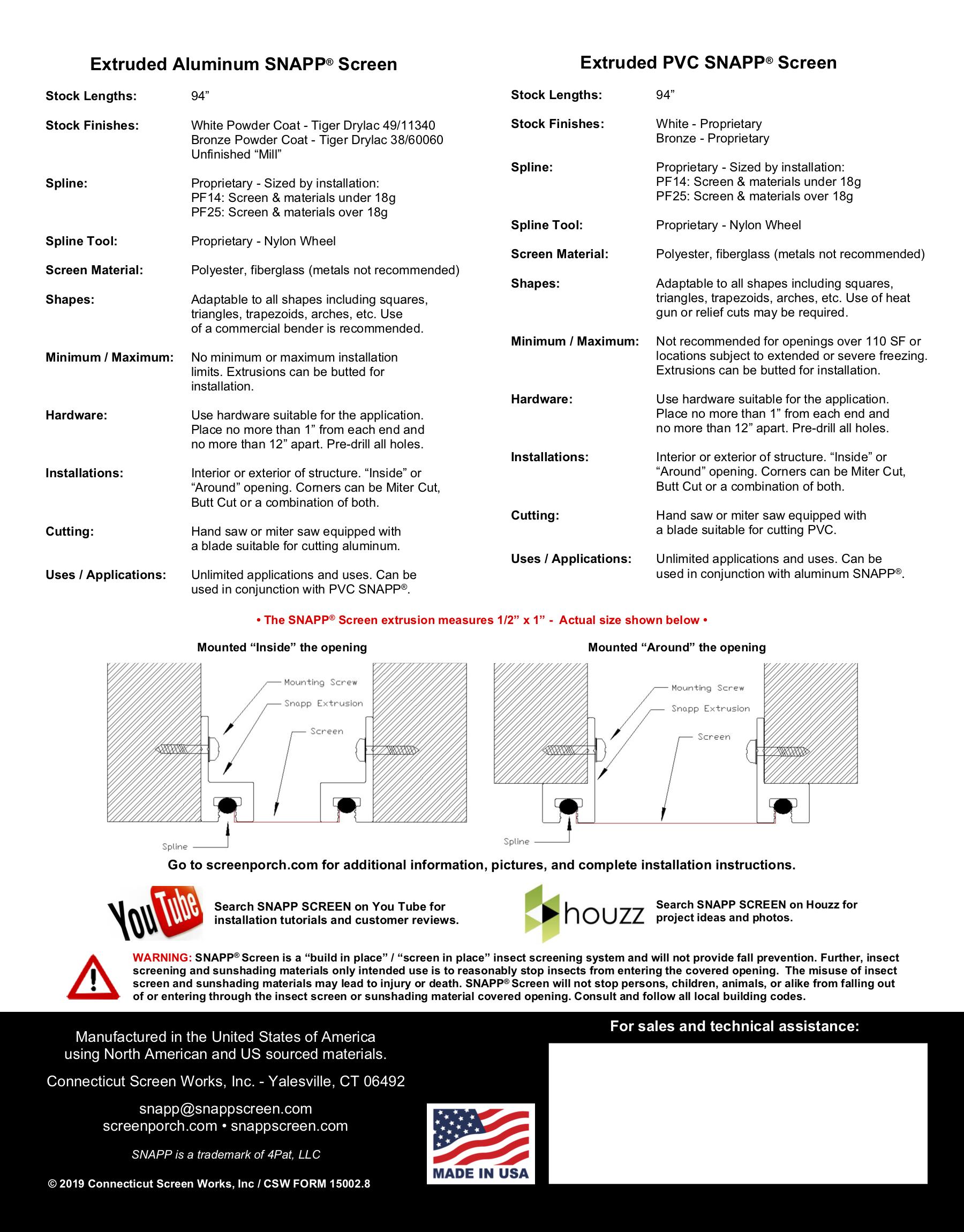 SNAPP Screen Spec Sheet PG2