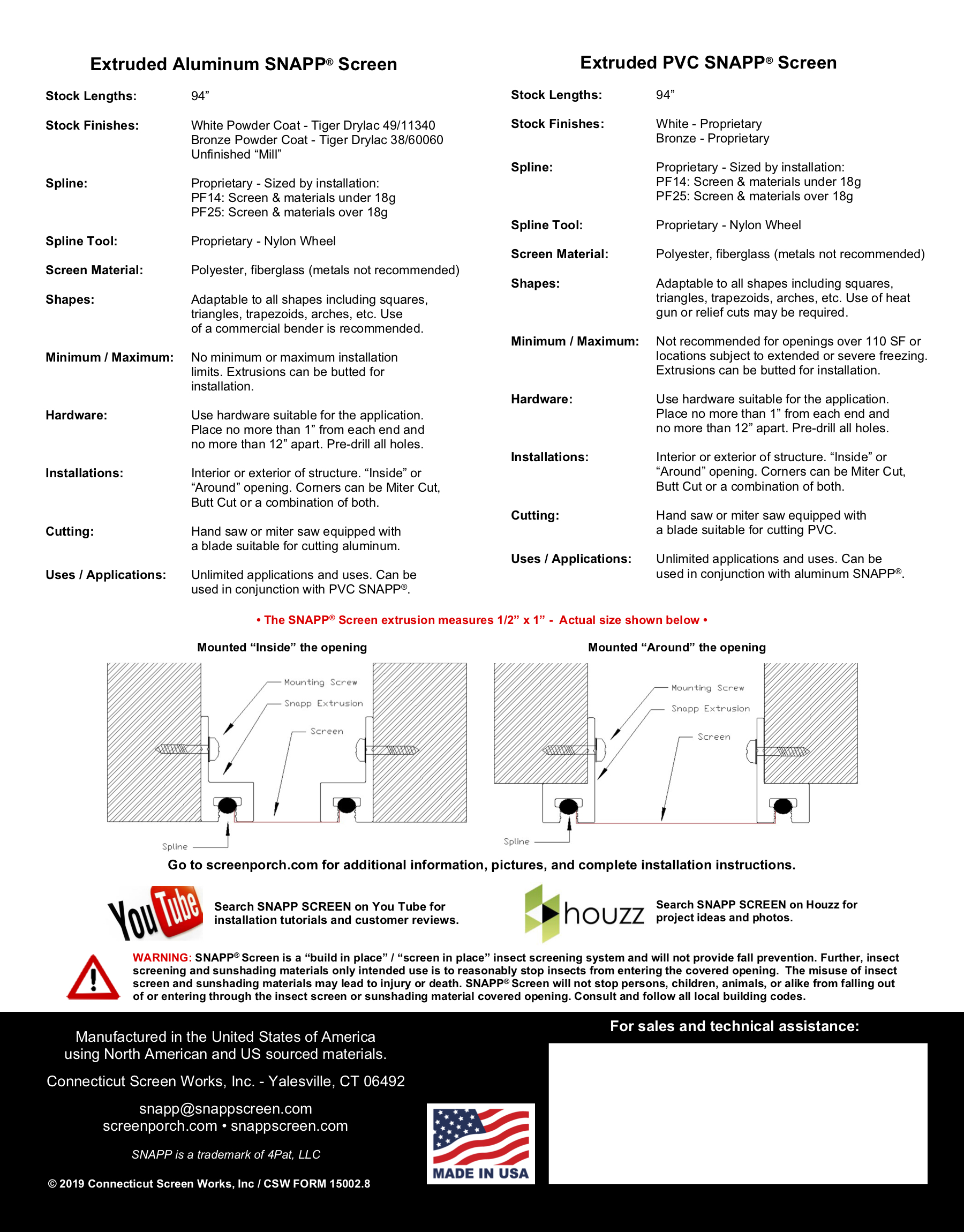 SNAPP Screen Spec Sheet PG2