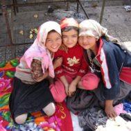 Uyghur girls at a Khotan Market