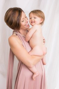 laurilee roseberry and daughter in pink dress