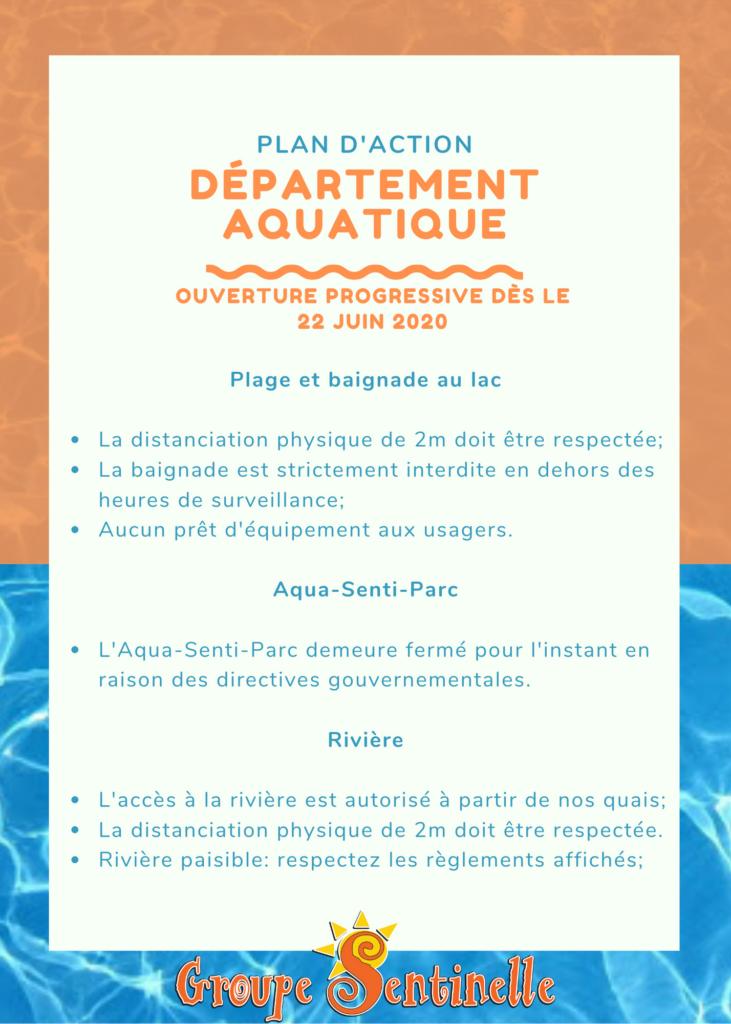Plan d'action lac