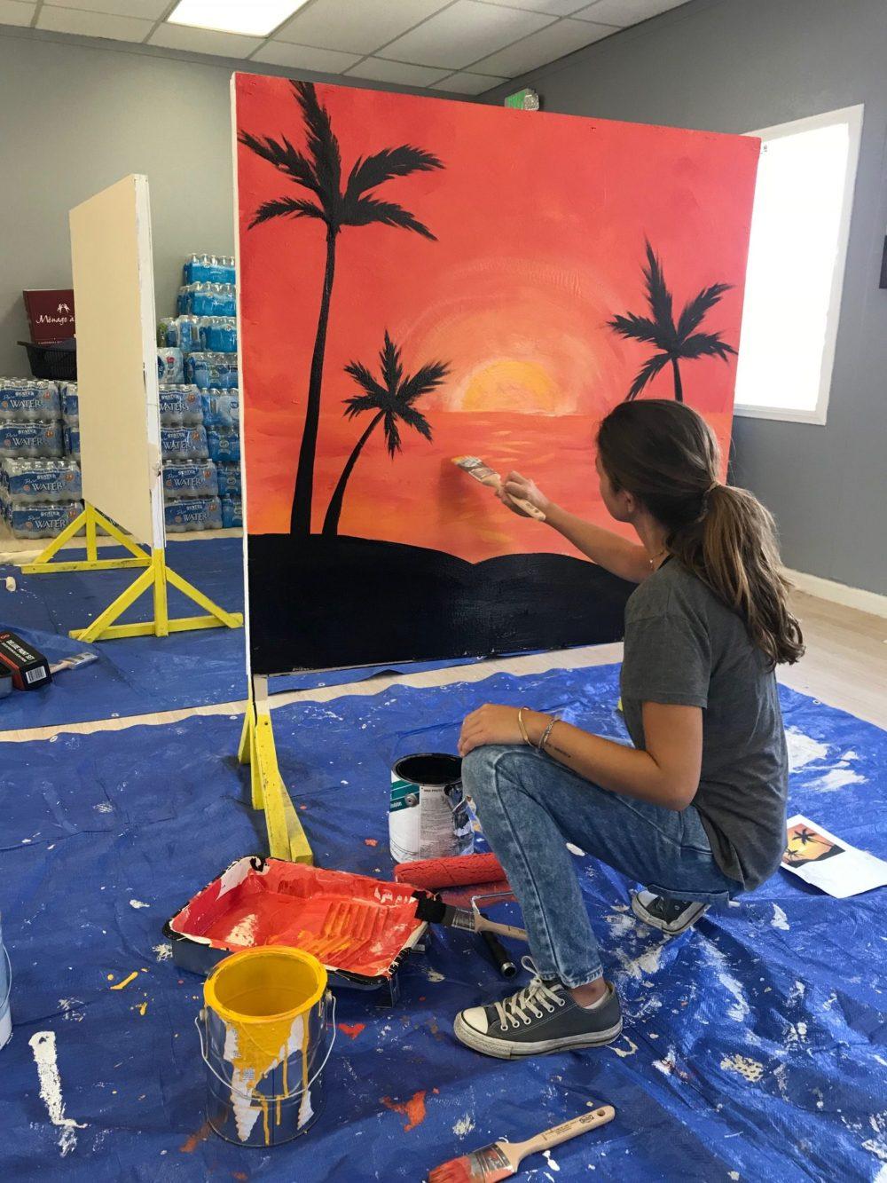 a light of hope teen volunteer at Bridge to Home in Santa Clarita