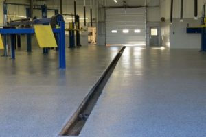 concrete floor coating in car dealerships in los angeles