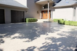 driveway in santa clarita coated with polyurea concrete coating