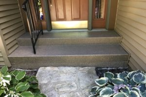 stairs outside a los angeles home coated with polyurea protective coating